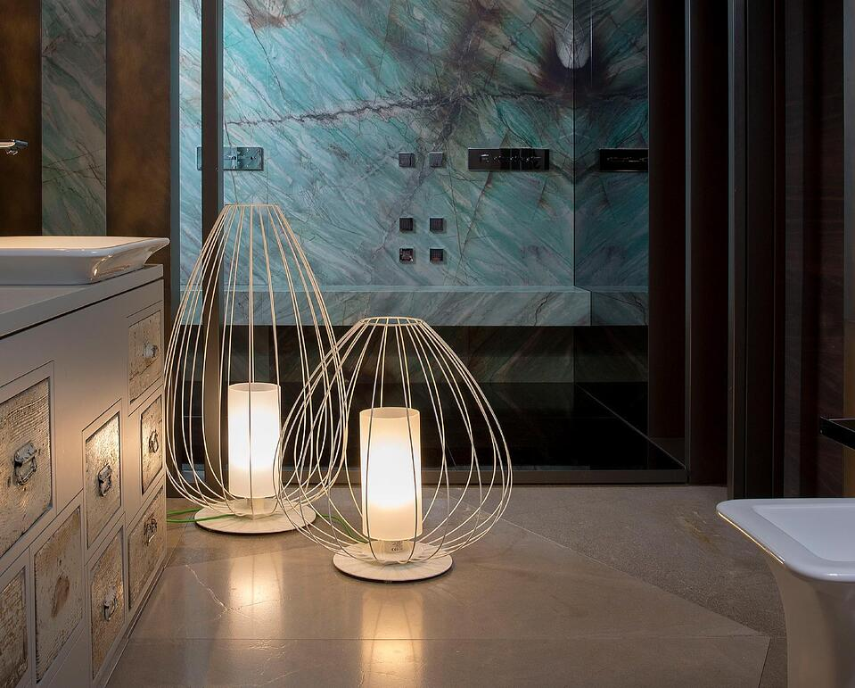 Cell bathroom lighting design