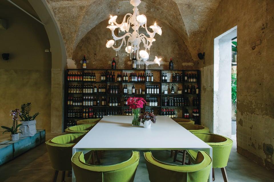 Au Revoir lampade per concept restaurant