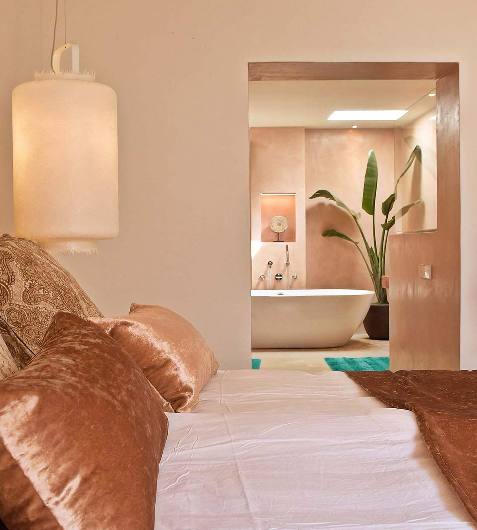 Kimono: the lamp chosen for a luxury project in Ibiza