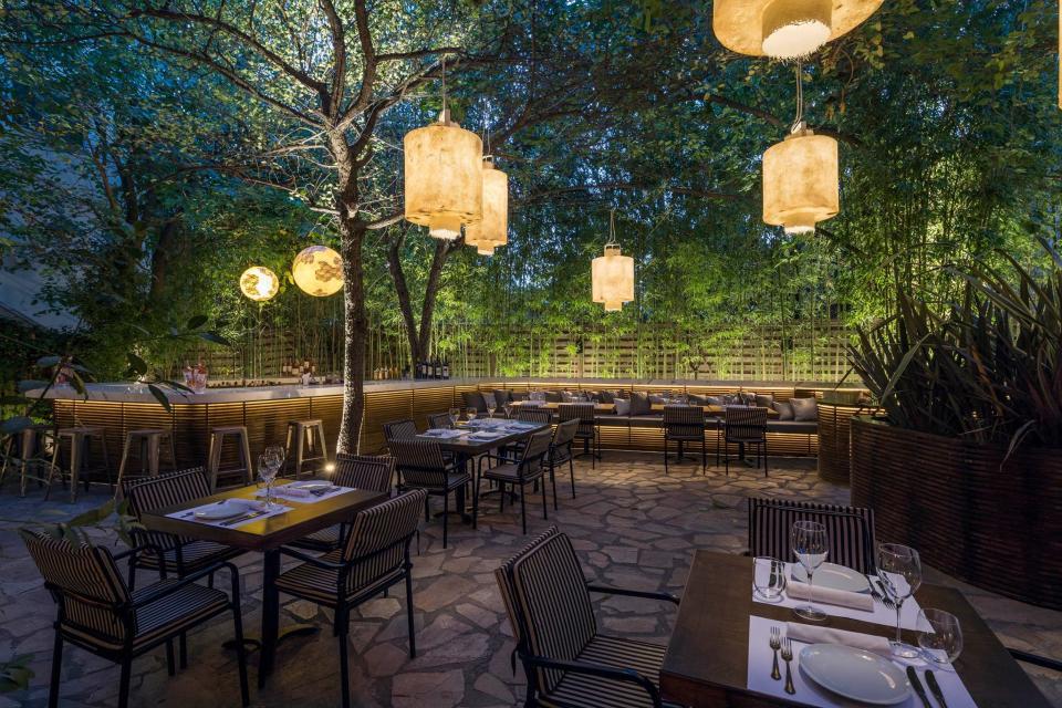 Illuminazione decorativa ristorante