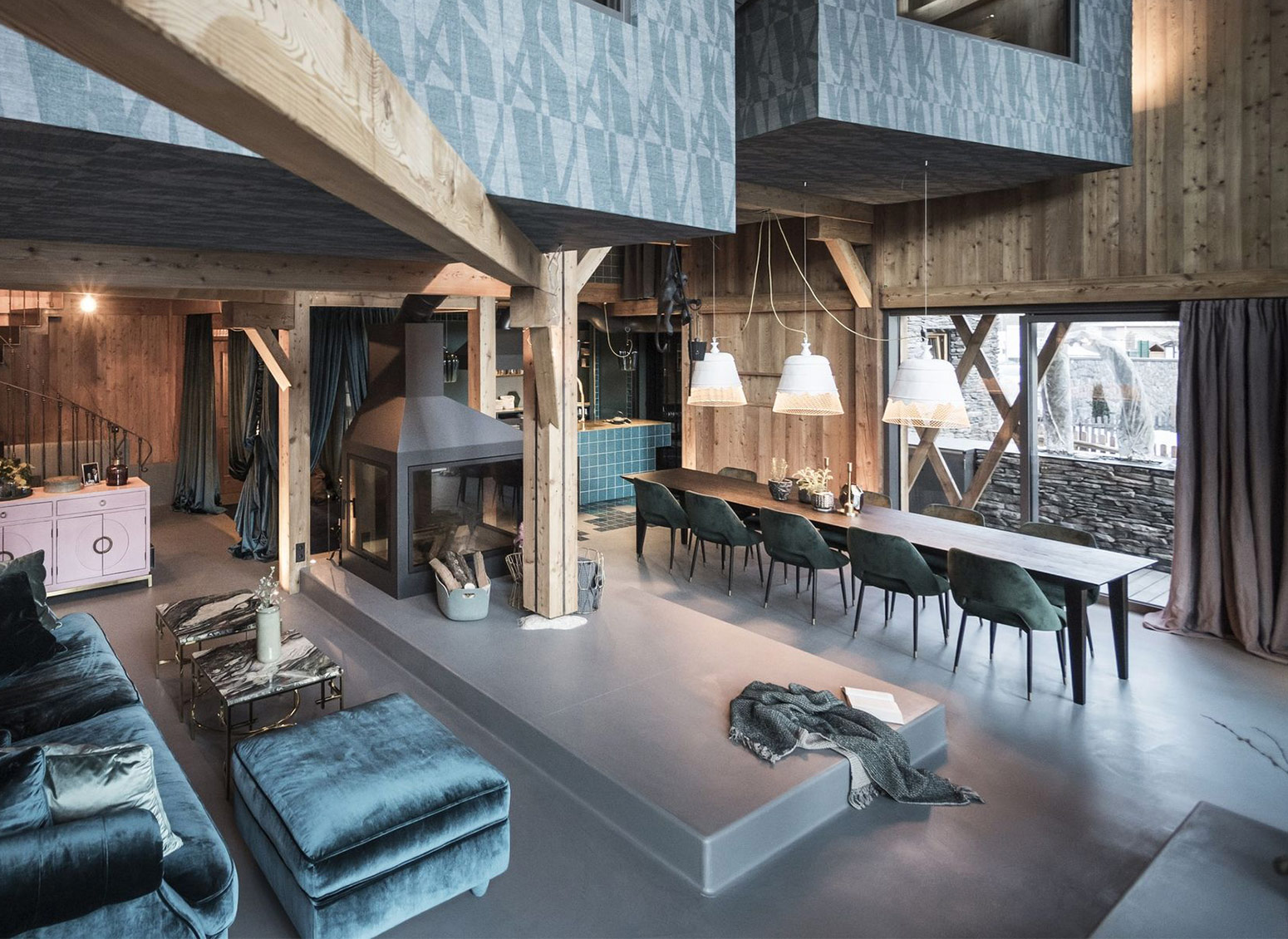 How to illuminate an open space with Karman: the example of Messner House